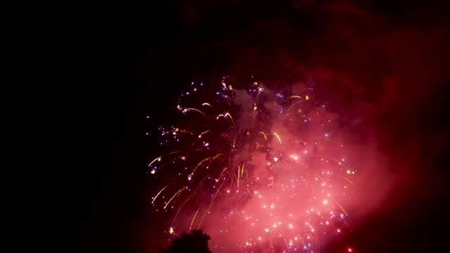 4th of July Fireworks - Aerial Drone shot Rose Bowl Pasadena California 4th of July fireworks display. Aerial drone shot. fireworks stock videos & royalty-free footage