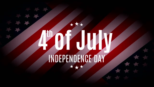 4th of july. independence day. 4k animation. - luglio video stock e b–roll
