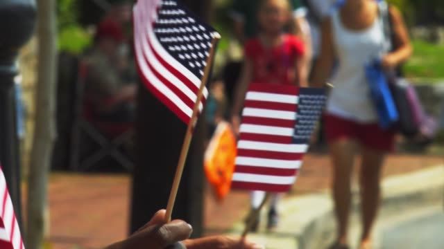 4th of july parade 2018 - giorno dell'indipendenza video stock e b–roll