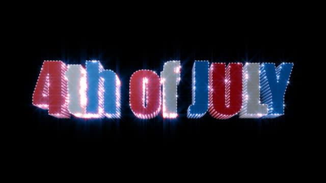 4 lipca sparkling tekst (alfa matowy - zachodnie pismo filmów i materiałów b-roll