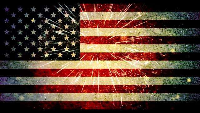 vídeos de stock, filmes e b-roll de 4 de julho eua bandeira - patriotismo