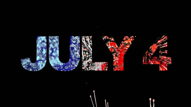 4th of July America 4th of July alphabet firework for national day, audio included. fourth of july videos stock videos & royalty-free footage