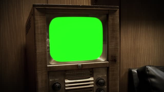 "50s Television with Green Screen. Aesthetics of the 80s. Sepia Tone. Zoom Out. 50s Television with Green Screen. Aesthetics of the 80s. Sepia Tone. Zoom Out. Ready to Replace Green Screen with Any Footage or Picture you Want. You Can Do it With ""Keying"" (Chroma Key) Effect in After Effect or Any Other Program You Like. Full HD. group of objects stock videos & royalty-free footage"