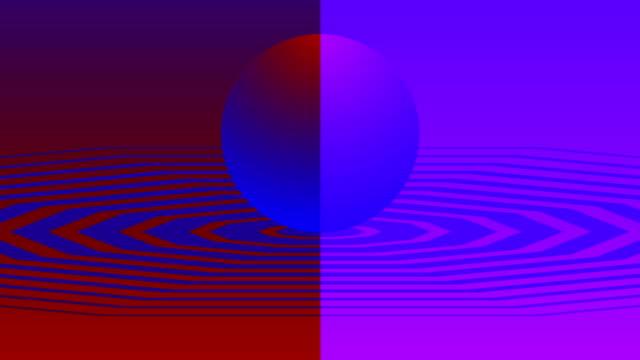 4k 80年代の背景 - カラフルなボールアニメーション - ぶどう イラスト点の映像素材/bロール