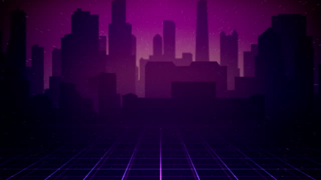80s City Background Loop Stock Video Download Video Clip Now