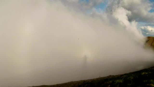 a Dense Fog Approached Very Close to Top of The Mountain video
