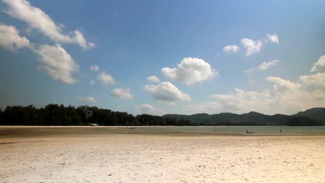 a deserted tropical beach video