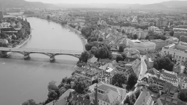 a droneflight over Basel in Switzerland