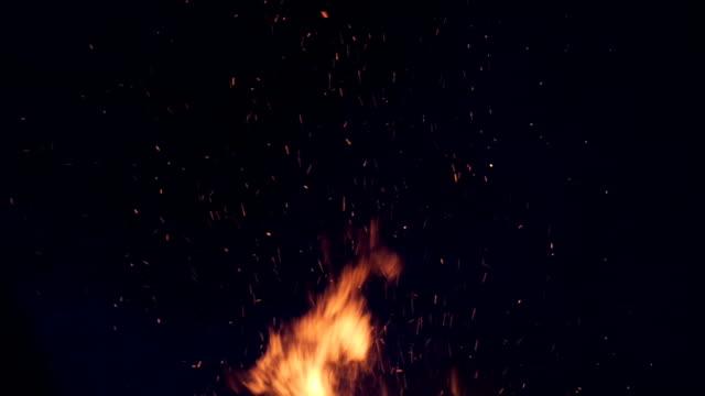a huge fire sparks video