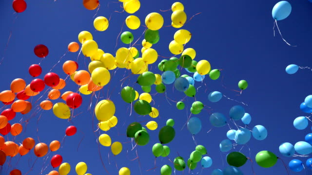 a lot of balloons in the sky a lot of balloons in the sky FullHD happy birthday stock videos & royalty-free footage