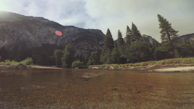 POV of a man rafting in Merced River of Yosemite video