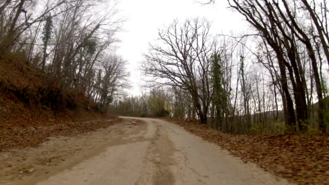 a trip to the mountain by the old ruined road, GoPro video