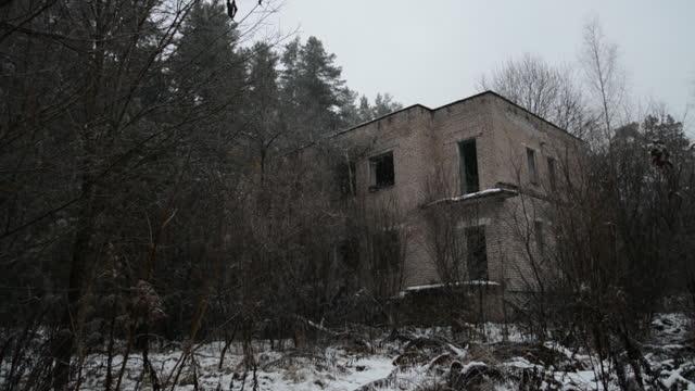 Abandoned brick building video
