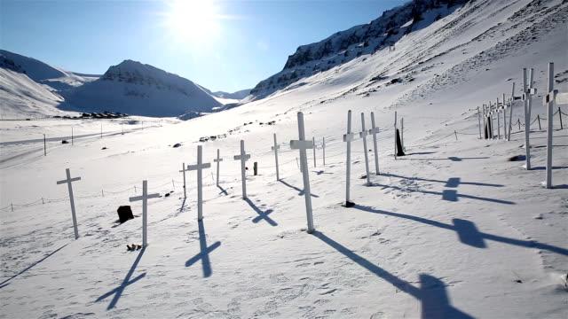 Abandoned cemetery on Spitzbergen. video
