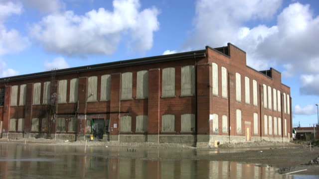 Abandoned Factory. Timelapse. video