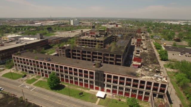 Abandoned Packard Plant Detroit Aerial