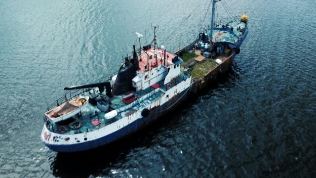 övergivna skepp - skrov bildbanksvideor och videomaterial från bakom kulisserna