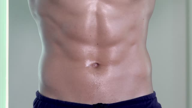 Abdominal Muscles Of Man In Gym video