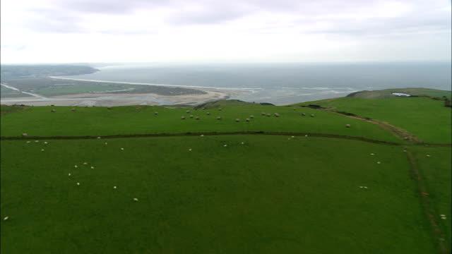 Aberdovey - Aerial View - Wales, Ceredigion, United Kingdom video