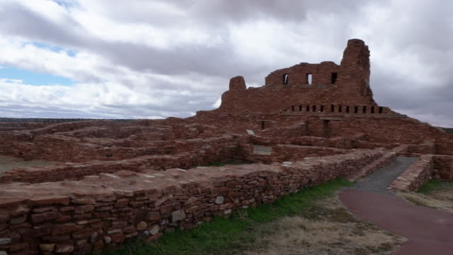 abo ruins salinas national monument historical - coloniale video stock e b–roll