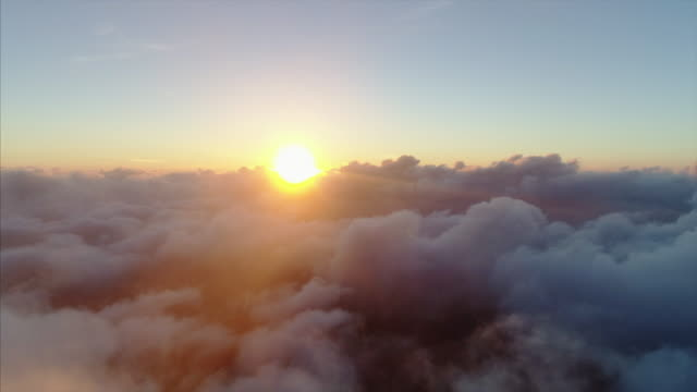 above clouds aerial view - sunset stock videos & royalty-free footage