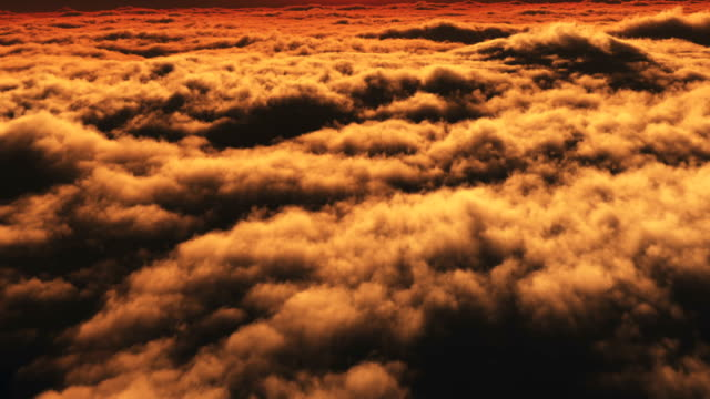 above over clouds sunset