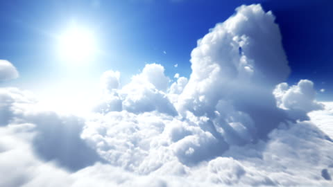 vídeos y material grabado en eventos de stock de por encima de las nubes, lazo perfecto - nube