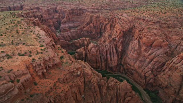 AERIAL Above the Colorado River in Grand Canyon at sunset video