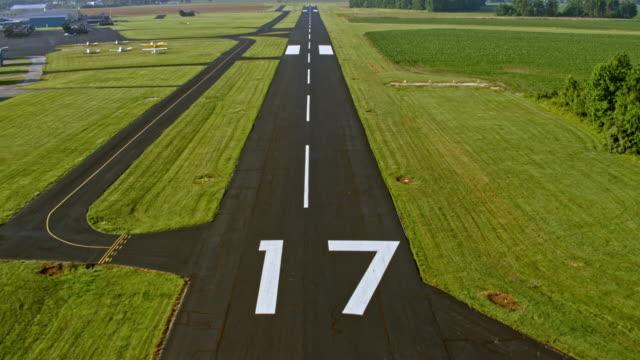 AERIAL Above the runway before landing video