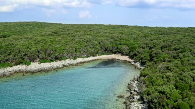 AERIAL Above the sea and wild coastline video