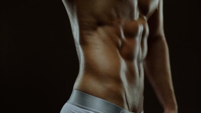 Abs muscles of man video