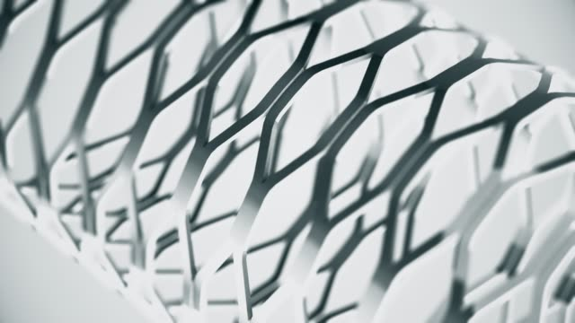 Abstract 3D background seamless loop of steel shape with reflection of animated light and environment. Clean, soft and shiny reflecting beatiful motion design animation. The concepts of business, finance, game, internet, data, modern, web and mobile