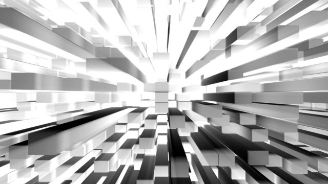 Abstract 3D cube blocks as modern blank city concept video