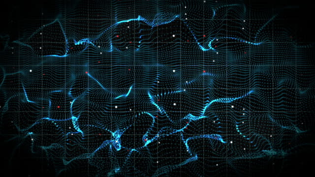 abstract 3d form of electromagnetic wave - frequenza video stock e b–roll
