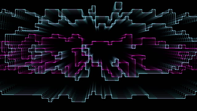 abstract 3D geometric template video