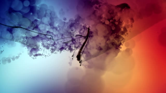 Abstract 3D Particles Background Animation