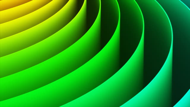 Abstract 3D rainbow spiral background Creative abstract color spiral shape rainbow 3D render illustration wallpaper background saturated color stock videos & royalty-free footage