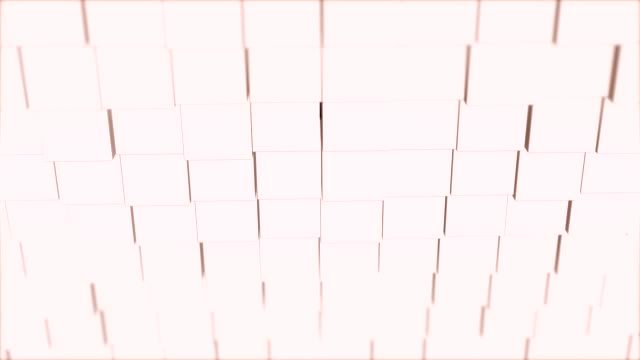 Abstract 3d render rotating cubes modern animation background on seamless loop.