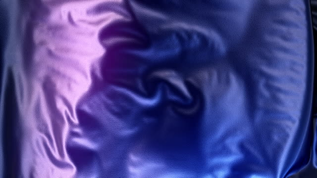 vídeos de stock e filmes b-roll de abstract 3d rendering blue metallic cloth animation background - têxtil