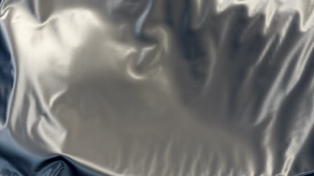 Abstract 3d rendering silver cloth animation background video
