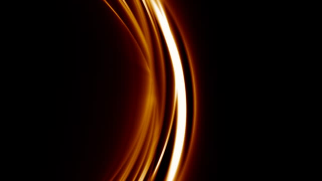 Abstract amber arcs over black with matte video