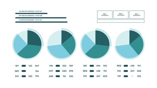 Abstract animated data report page