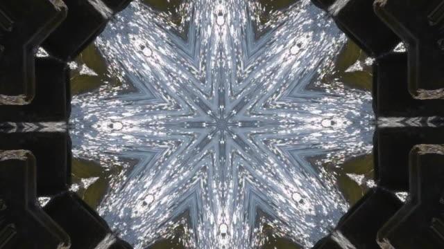 抽象アニメーション万華鏡の動きの背景。 - 万華鏡模様点の映像素材/bロール