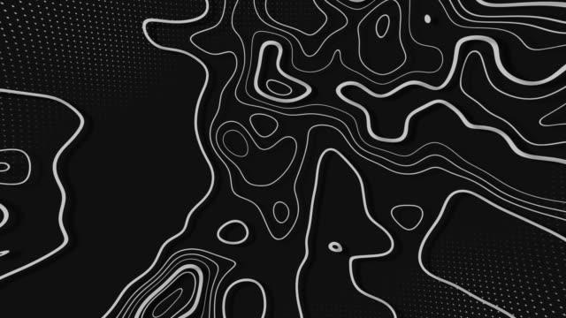 abstrakt animerad topografi bakgrund. memphis minimal bakgrund - topografi bildbanksvideor och videomaterial från bakom kulisserna