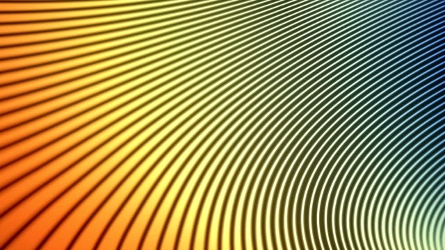 Abstract animation background with wavy color lines. 3d rendering