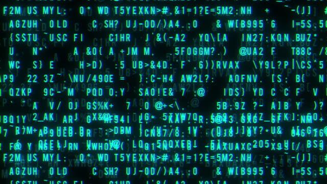 抽象アニメーション デジタル バイナリ データを青 - パスワード点の映像素材/bロール