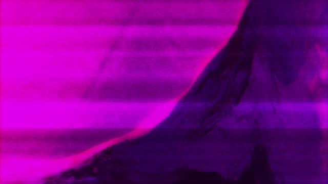 abstract animation future geometric shape with noise glitch video damage - голографический стоковые видео и кадры b-roll