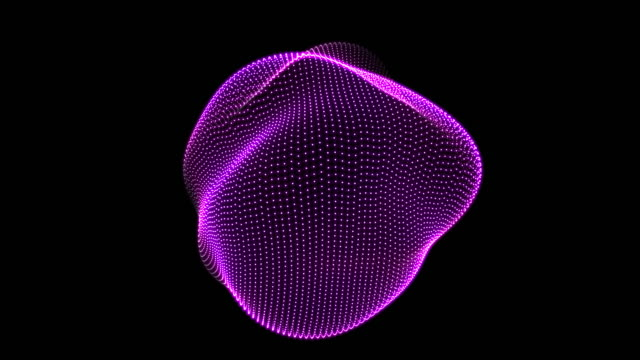 abstract animation nodes spherical ondulation - chemistry stock videos and b-roll footage
