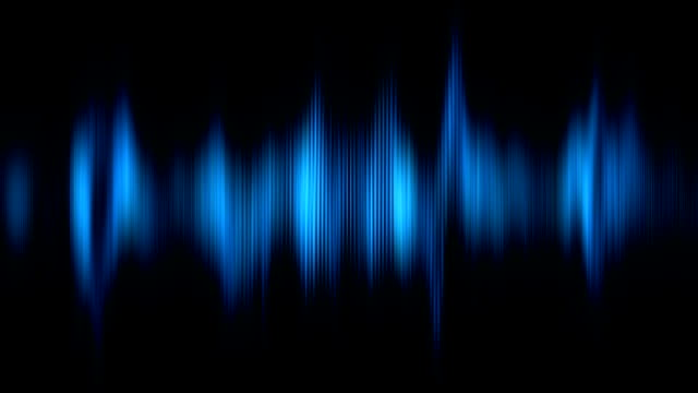 Abstract animation of digital audio histogram video