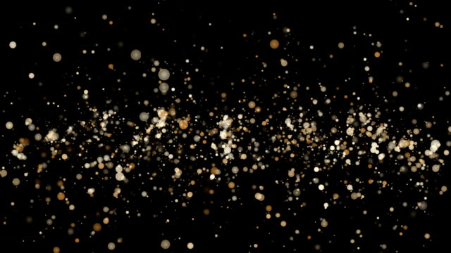Abstract animation with glowing and flickering particles in slow motion, loop HD 1080p video